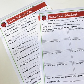 Student Advice Letter - End of the Year Activity