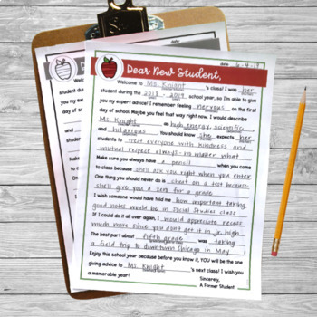 Student Advice Letter: End of the Year/ Back to School Activity