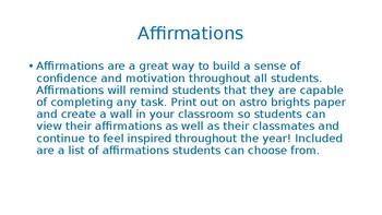 Student Affirmation
