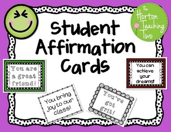Student Affirmation Cards