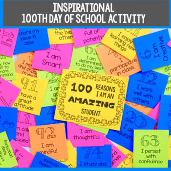 Student Positive Affirmations- 100 Day of School Activity
