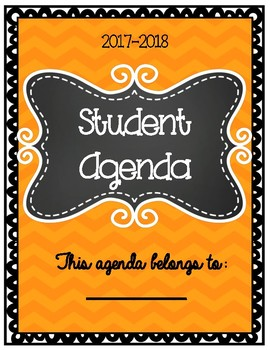 Student Agenda 2017-2018