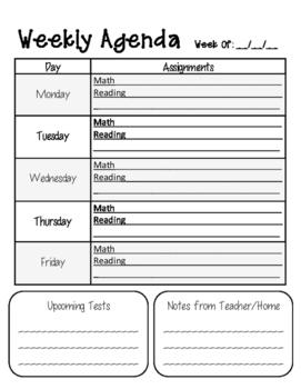 Student Agenda Pack