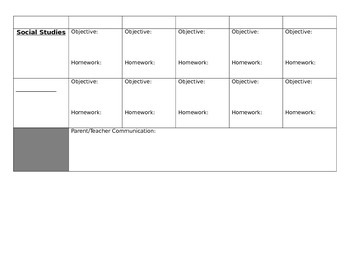 Student Agenda (elementary)