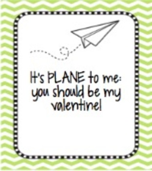 Student Airplane Valentine's Day Cards: Print, Sign, Give!