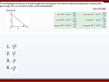 Student: Algebra 2: CU 10: 5.2 Day 1: Right Triangle Trigonometry