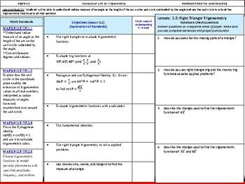 Student: Algebra 2: CU 10: 5.2 Day 2: Right Triangle Trigonometry