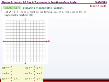 Student: Algebra 2: CU 10: 5.3 Day 1: Trigonometric Functions of any Anlge