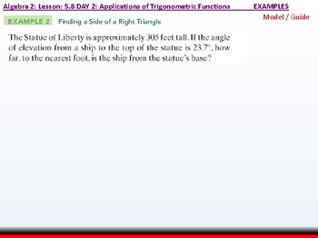 Student: Algebra 2: CU 10: 5.8 Day 2: Applications of Trigonometric Functions