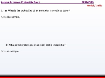 Student: Algebra 2: CU 11: Probability Day 1: Basic Probability