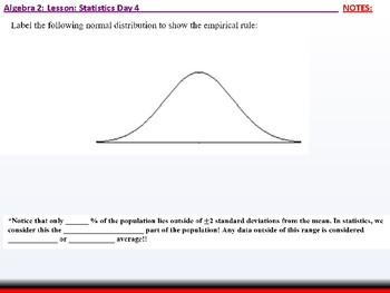 Student: Algebra 2: CU 12: Stats Day 4: The Normal Distribution
