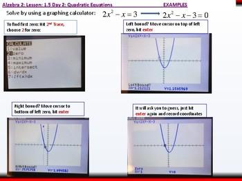 Student: Algebra 2: CU 3: 1.5 Day 2: Quadratic Equations