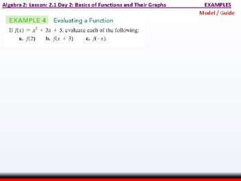 Student: Algebra 2: CU 3: 2.1 Day 2: Basics of Functions and their Graphs