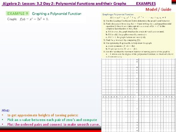 Student: Algebra 2: CU 4 an 5: 3.2 Day 2: Polynomial Functions and their Graphs