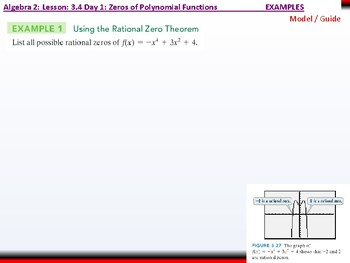 Student: Algebra 2: CU 4 and 5: 3.4 Day 1: Zeros of Polynomial Functions