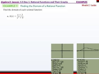Student: Algebra 2: CU 6: 3.5 Day 1: Rational Functions and their Graphs