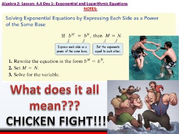 Student: Algebra 2: CU 7: 4.4 Day 1: Exponential and Logarithmic Equations