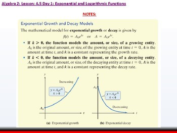 Student: Algebra 2: CU 7: 4.5 Day 1: Exponential Growth and Decay