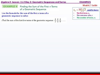 Student: Algebra 2: CU 8: 11.3 Day 2: Geometric Sequences and Series