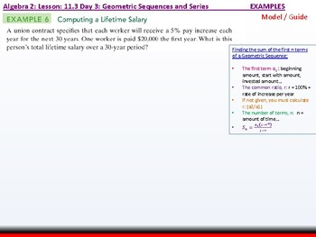 Student: Algebra 2: CU 8: 11.3 Day 3: Geometric Sequences and Series