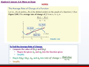 Student: Algebra 2: CU 9: 2.4: More on Slope
