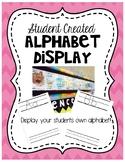 Student Created Alphabet Display