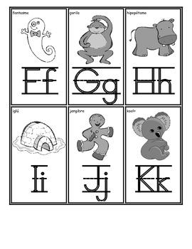 Student Alphabet Cards:Dual Language Spanish-Freebie