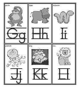 Student Alphabet Cards:English-Freebie