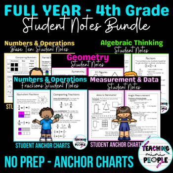 Student Anchor Charts - 4th Grade CC Math BUNDLE