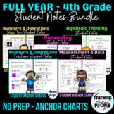 Student Anchor Charts - 4th Grade CC Math BUNDLE