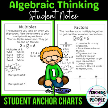 Student Anchor Charts - 4th Grade CC Math Operations & Algebraic Thinking