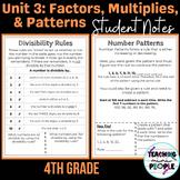 Student Anchor Charts - 4th Grade CC Math Operations & Alg