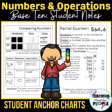 Student Anchor Charts - 4th Grade Math Numbers & Operations in Base Ten