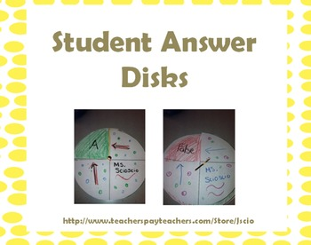 Student Answer Disks