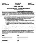Student Anti-Bullying Acknowledgement Form