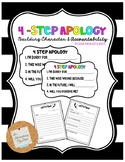 Student Apology Poster and Letter Template