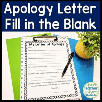 Apology Letter By HappyTeacherHappyStudents