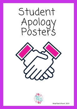Student Apology Posters & Forms