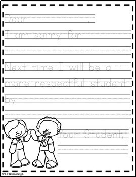 Student Apology Template
