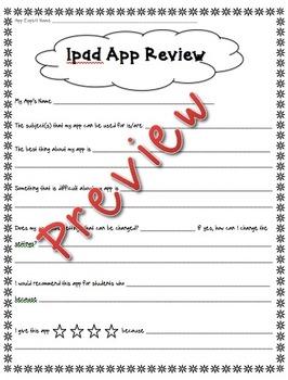 Student App Review Worksheet