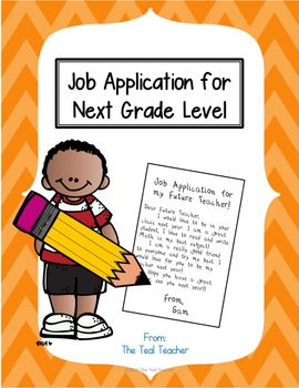 Student Application for Next Grade Level