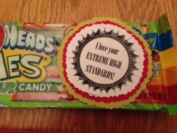 Student Appreciation Labels - Candy 3