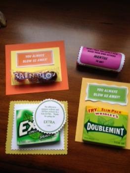 Student Appreciation Labels Gum