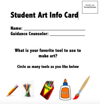 Student Art Card