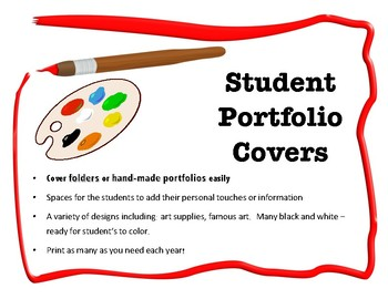 Student Art Folder or Portfolio Covers - several designs to choose from!