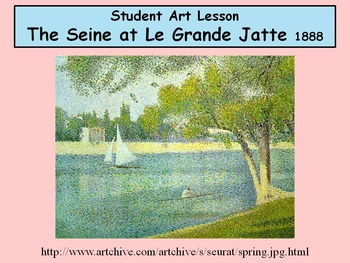 Student Art Lesson Georges Seurat (Smartboard)