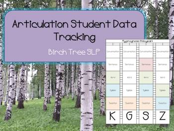 Student Articulation Data Sheet