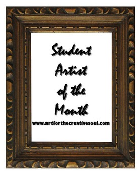 Student Artist of the Month Display Poster