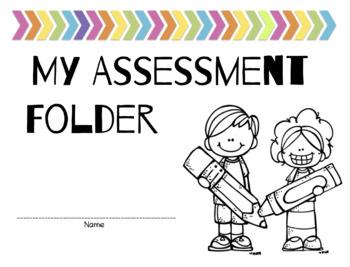 Editable Student Assessment Folder
