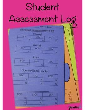 Student Assessment Log (Dividers) EDITABLE